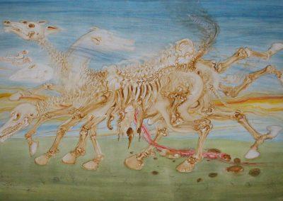 Zerfallendes Pferd I